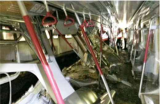 2 MTR trains collide near Central station